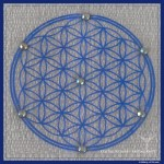 "Crystal Card with ""Flower of Life"""